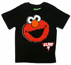 Elmo Face Toddler Boys Sesame Street Let's Rock Black Tee Shirt Size 2T NWT