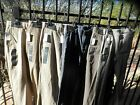 NWT Org $59 Roundtree &Yorke Mens Casual Pants Flat Front various colors & sizes