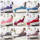 Knit Ariel Snuggle Mermaid Tail Blanket Premium Scale Rug High Quality Handmade!