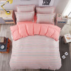 Home Single Queen King Bed Set Pillowcase Quilt/Duvet Cover TUSl Striped qcwh
