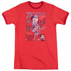Betty Boop Boop Ball Mens Adult Heather Ringer Shirt Red $33.96 CAD