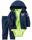 CARTERS Baby Boy Hoodie 3pc Set Outfit Clothes Newborn 3 6 9 12 18 24 Month NEW