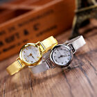 Women Round Gold&Silver Plated Quartz Adjustable Woven Bracelet Analog Wristwath