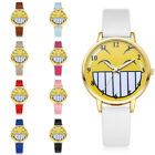 Fashion Women Teen Boys Girl PU Leather Watch Analog Quartz Number Wristwatch