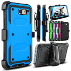 For Samsung Galaxy J7 Sky Pro/J7 Prime Hybrid Holster Belt Clip Armor Case Cover