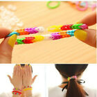Colorful 600PCS Rubber Band Bracelet Refill Kits Rainbow Loom Bands DIY 10Colors