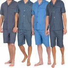 mens poly cotton pyjamas  shorts sleeve short bottom sets traditional  style
