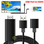USB To HDMI Digital AV Adapter Plug and Play HDTV Smart Cable for iPhone 7 8 XS