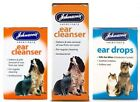 Johnson's Ear Drops or Cleanser for Dogs/Cats Kills Ear Mites Drops Wax Softener