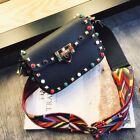 Women Crossbody Bags Fashion Color Rivet Design Shoulder Bags Shoulder Strap