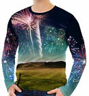 Spectacular Fireworks Mens Long Sleeve T-Shirt Tee wa2 aao40491