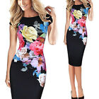New Women Elegant Pencil Sheath Dress Work Party Office Cooktail Bodycon Dresses