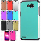For LG Fiesta L64VL HARD Astronoot Hybrid Rubber Silicone Case Phone Cover