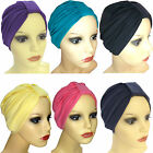 STRETCH COTTON JERSEY TURBAN HAT. HEADWEAR FOR HAIRLOSS, CHEMO.BREATHABLE FABRIC