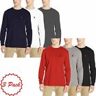 Mens 3 Pack US Polo Assn Crew Neck Long Sleeve Top Regular Fit T-shirt Multi Set