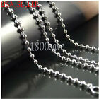 Genuine 925 Sterling Silver 16~24'' Ball Bead Chain Necklace Width=2.4MM U760