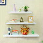 High GLOSS White Floating Shelves Wall Shelf Storage Display bookcases Shelving
