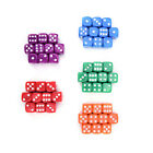 10Pcs acrylic six sides spot dot D6 playing game color dices bar pub toy