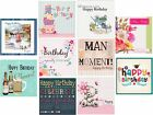 10 PACK MULTI VARIATION MIXED BIRTHDAY & OCCASIONS CARDS FOR MEN WOMEN CHILDREN
