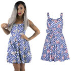 Ladies Women Rockabilly Vintage 50s 60s Swing Party Cocktail Pin Up Floral Dress