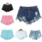 Women High Waisted Washed Ripped Short Mini Jeans Denim Pants Shorts Summer New