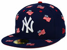 New York Yankees MLB July 4th Independence Day America USA Flags 5950 Hat Cap NY on Ebay