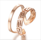 Korean style Titanium Steel Hollow GREAT WELL design cute Womens open ring gift