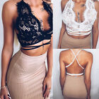 2017 Backless Summer Women's Casual Backless Lace Blouse T- Shirt Cropped Top