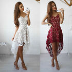 fashion dress - Fashion Women Summer Sleeveless Lace Evening Party Cocktail Short Mini Dress US