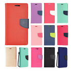 For Samsung Galaxy J3 PRIME Premium Leather 2 Tone Wallet Case Pouch Flip Cover