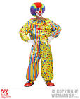 Mens Yellow Spots & Stripes Clown Costume Outfit for Circus Fancy Dress