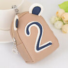 Cute digital coin bear holder Ring Bag Charm Leather Handbag wallet key chain
