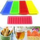New Safety Square Mold Ice Tray Silicone Strip Cylinder Cube Stick Bottle B
