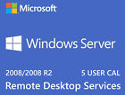 Microsoft Windows Server 2008 R2 Remote Desktop Services RDS USER CAL Key