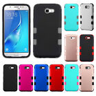 For Samsung Galaxy J7 PRIME IMPACT TUFF HYBRID Rubber Case Skin Phone Cover