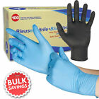 NEW Latex Nitrile Disposable Powder Free Gloves - Blue or Black - 100 Per Boxed