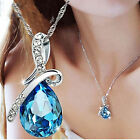 SUP New Women's Fashion Chain Crystal Rhinestone Pendant Necklace Jewelry Gift