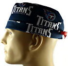 Men's Adjustable, Fold-Up Surgical Scrub Hat in Tennessee Titans