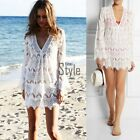 New Women Sexy Bathing Suit Lace Crochet Bikini Swimwear Cover Up Beach Dress KH