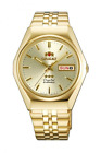 Orient 3 Star Crystal 21 Jewels Automatic Gold Men's Watch SAB06003C8