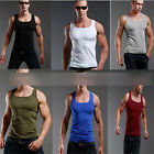 Men's Tops T-Shirts Fad Plain Tank Top Muscle Cami Sleeveless Cotton Tees Shirts