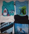 New Hurley short sleeve T shirt boys white black monkey blue  2T 3T