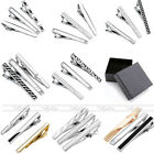 3pc Mens Steel Classic Silver Necktie Clip Tie Clip Bar Practical Clasp Gift+Box