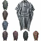 Poncho Hooded Cape Cotton LOUDelephant Warm Festival Woven Men Women LONG