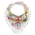 US Infant Kids Baby Boy Girl Feeding Saliva Towel Dribble Triangle Bandana Bibs