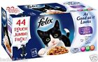 Felix As Ocean/ Fish / Mixed Selection in Jelly 40 x 100 g Pouches Cat Food