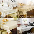Lace Detail Table Cloth Kitchen Dining Tablecloth Table Cover Protector