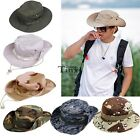 Fishing Hiking Boonie Snap Brim Bucket Sun Hat Cap Camo New TXCL01