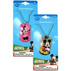 Dog Tag Charm + Adjustable Necklace Mickey Minnie Assorted Party Favor NEW
