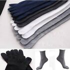 Soft Men's Women's Socks Pure Soild Sports Five Finger Toe Cotton Socks Hot Sale